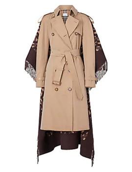 Blanket Fringe Back Trench Coat by Burberry