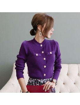Hasu   Long Sleeve Buttoned Knit Top by Hasu