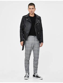 Checked Skinny Fit Trousers by Bershka
