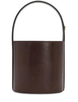 Bisset Lizard Embossed Leather Bag by Staud