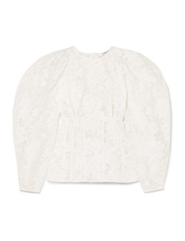 Cotton Blend Corded Lace Blouse by Givenchy