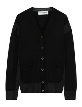 Mesh Trimmed Wool Blend Cardigan by Sonia Rykiel