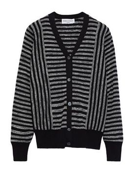 Striped Silk And Cotton Blend Cardigan by Sonia Rykiel