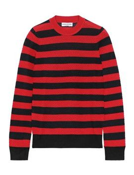 Striped Open Knit Wool Blend Sweater by Sonia Rykiel