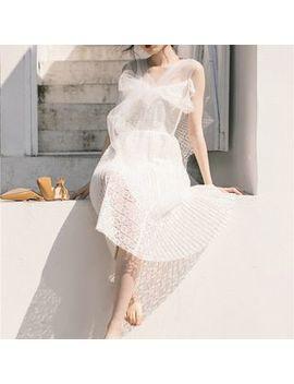 Nebbia   Sleeveless Midi Mesh Dress by Nebbia