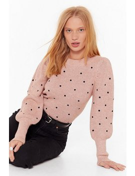 Knit's Gettin' Dot In Here Relaxed Sweater by Nasty Gal