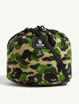 Camouflage Drawstring Shoulder Bag by A Bathing Ape