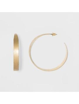 Wide Metal And Open End Hoop Earrings   Universal Thread™ by Universal Thread