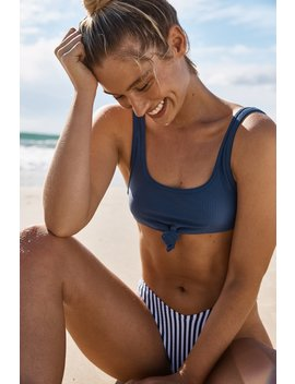 Knot Front Crop Bikini Top by Cotton On
