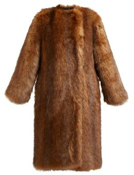 Single Breasted Faux Fur Coat by Givenchy
