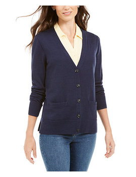 Merino Wool V Neck Cardigan, Created For Macy's by General