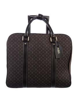 Brown Mini Lin Epopèe Luggage by Louis Vuitton