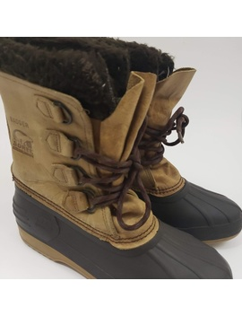 Sorel Badger Women's Brown Suede Snow Boots Size 9 by Sorel