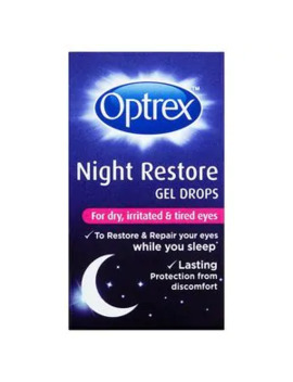 Optrex Night Restore Eye Gel Drops 10ml by Superdrug