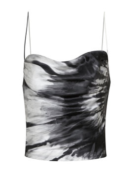 Remi Monochromatic Tie Dye Silk Tank Top by Retrofête