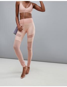 Puma Dance Mesh Insert Leggings In Pink by Puma's