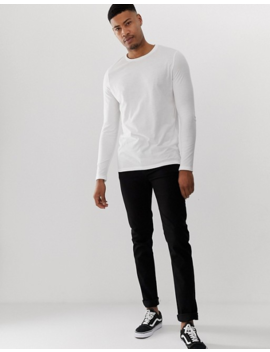 Asos Design Tall – Langärmliges Shirt Aus Bio Baumwolle Mit Rundhalsausschnitt, Special Offer: 2er Pack by Asos