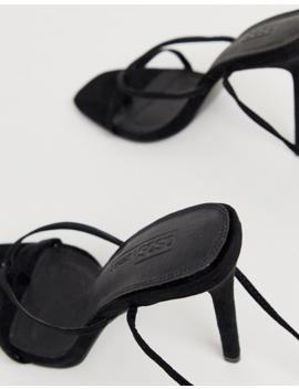 Asos Design   Navigate   Sandales Minimalistes à Talons   Noir by Asos Design