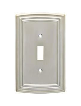 Emery Decorative Single Light Switch Cover, Satin Nickel by Hampton Bay