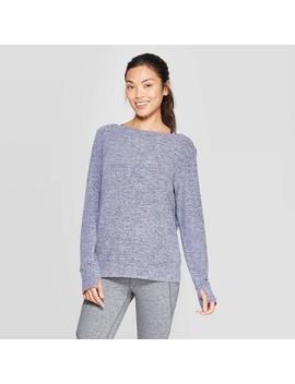 Women's Training Long Sleeve Soft Open Back Pullover   C9 Champion® Light Purple by C9 Champion