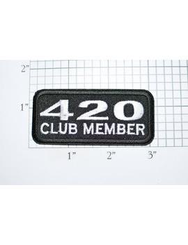 420 Club Member Black Iron On Embroidered Patch Applique, Funny Marijuana Drug, Biker Motorcycle Jacket Vest Punk Backpack Weed Pot T03d by Etsy