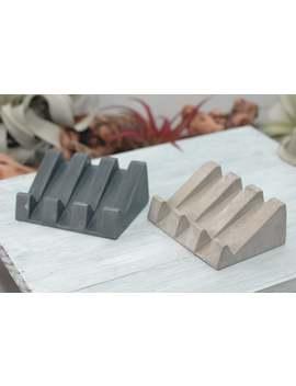 Concrete Draining Soap Dish | Modern Soap Dish | Kitchen Decor by Etsy