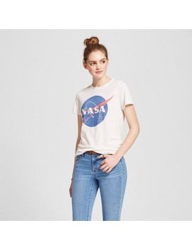 Women's Nasa® Graphic T Shirt Cream M   Zoe+Liv (Juniors') by Target
