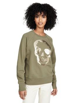 Upper Skull Gold Sweatshirt by Zadig &Amp; Voltaire