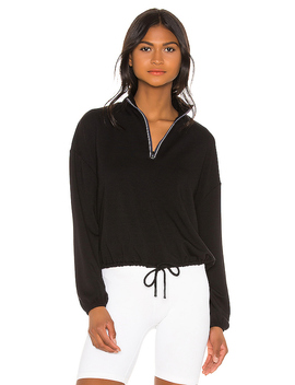 By Request Cropped Pullover In Black by Beyond Yoga