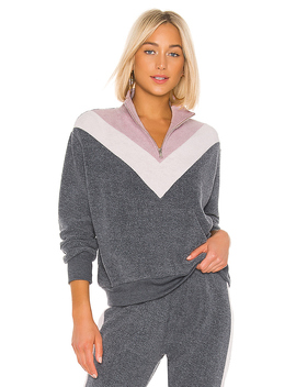 Soto Warmup Sweatshirt In Night & Crush & Rose by Wildfox Couture