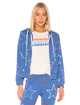 Starlight Regan Zip Hoodie In Slate by Wildfox Couture