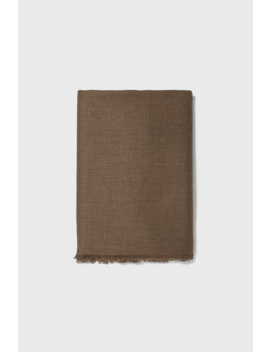 Herringbone Textured Weave Scarf  New Inman by Zara