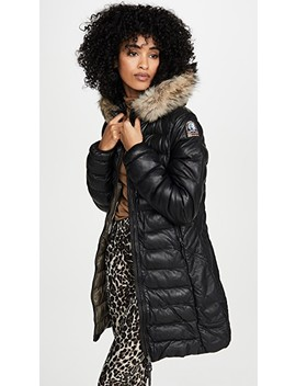 Demi Leather Puffer Jacket by Parajumpers