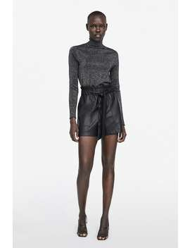 Faux Leather Paperbag Bermuda Shorts Shortswoman by Zara