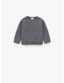 Contrasting Polka Dot Sweatshirt New Inbaby Girl by Zara