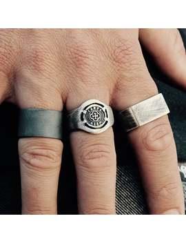 In Stock Carpe Diem Ring Silver Coin Ring Signet Ring Mens Ring Mens Signet Ring Mens Jewelry Pinky Ring Signet Rings Mens Gift Silver Ring by Etsy