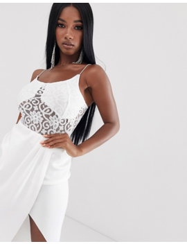 Asos Design Cami Body In Lace With Seam Detail by Asos Design