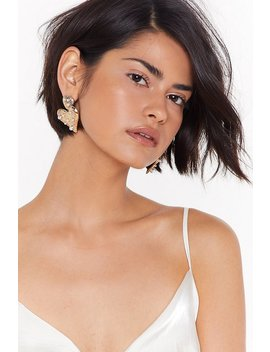 A Heart Like Yours Embellished Drop Earrings by Nasty Gal