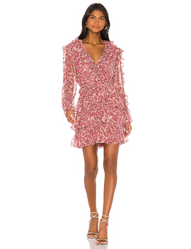 Alessia Frill Dress In Ditsy Floral by Bardot