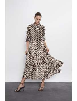 Robe Mi Longue ImprimÉenouveautÉs Femme by Zara
