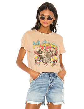 Def Leppard World Tour Tee In Camel by Junk Food