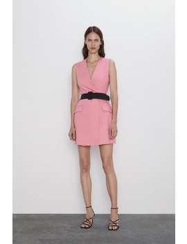 Vestido Blazer Com Cinto Ver Tudo Vestidos Mulher by Zara