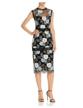 Palette Pencil Embroidered Lace Midi Dress   100% Exclusive by Bronx And Banco