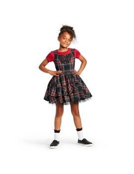 Girls' Plaid Sleeveless Square Neck Mini Dress   Harajuku Mini For Target Red/Black by Harajuku Mini For Target
