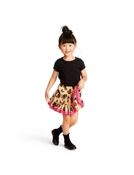 Toddler Girls' Leopard Print A Line Mini Skirt   Harajuku Mini For Target Tan by Harajuku Mini For Target