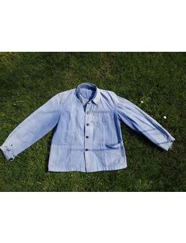 French Vintage Workwear Chore Jacket Bleu Vetements Travail Faded Indigo by Etsy