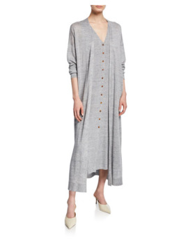 Lafayette 148 New York Button Front Linen/Viscose Relaxed Cardigan by Lafayette 148 New York