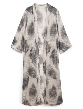 Carine Feather Print Duster by Allsaints