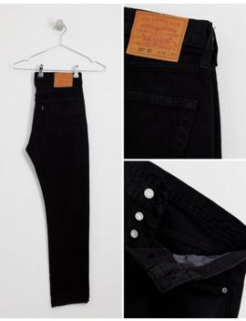 Levi's   501   Jean Slim Fuselé Taille Basse   Noir Surteint by Levi's