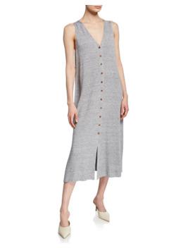 Lafayette 148 New York Linen/Viscose Button Front Knit Dress by Lafayette 148 New York